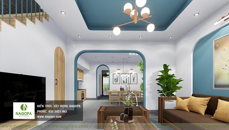nội thất nhà xanh