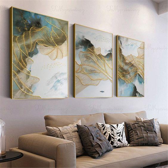 tổng hợp những mẫu tranh phòng khách đẹp 11
