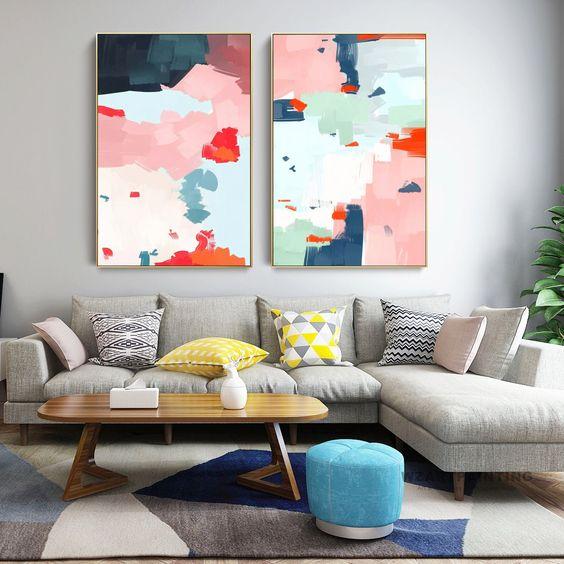 tổng hợp những mẫu tranh phòng khách đẹp 15