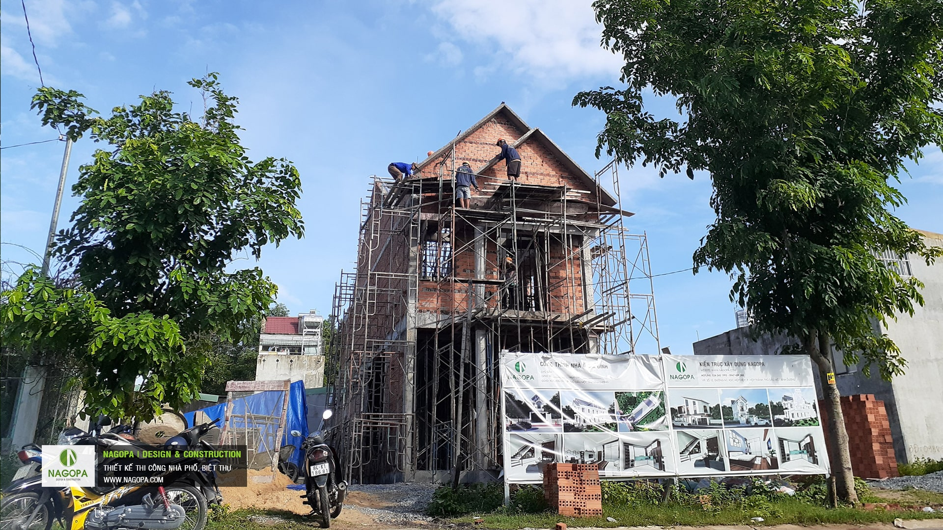 tiến độ xây dựng nhà phố chị H Thủ Dầu Một 01