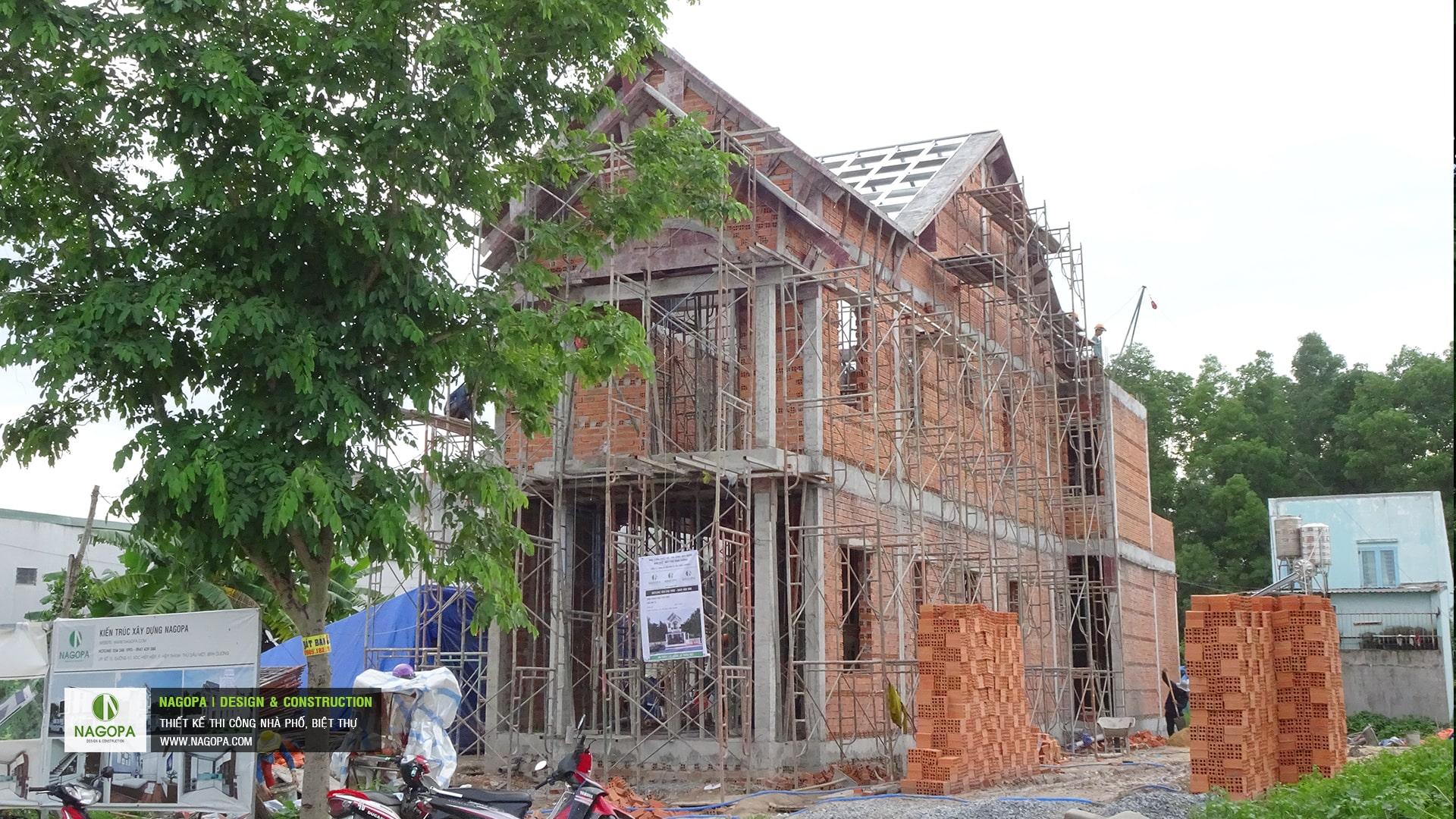 tiến độ xây dựng nhà phố chị H Thủ Dầu Một 03