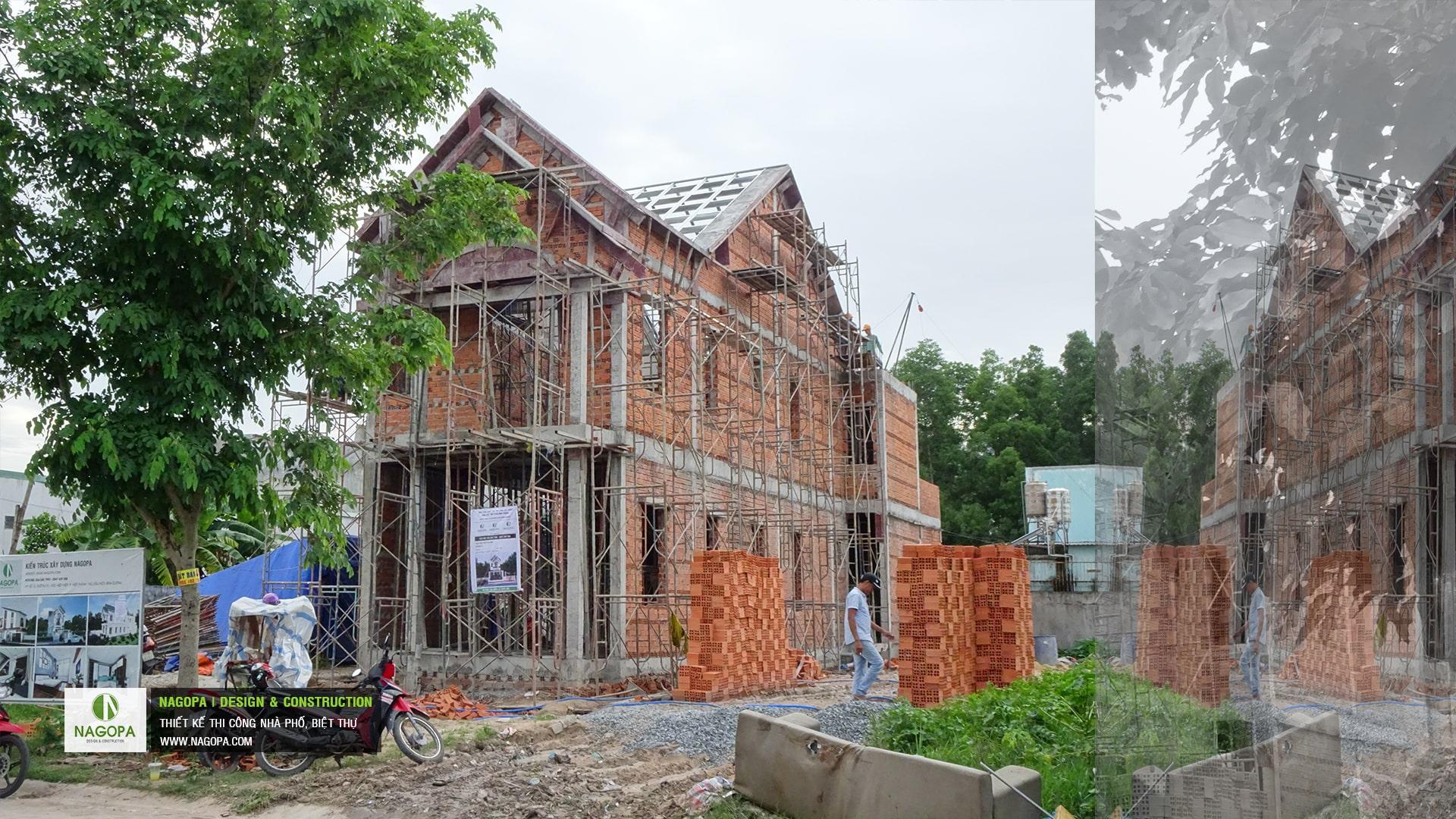 tiến độ xây dựng nhà phố chị H Thủ Dầu Một 05