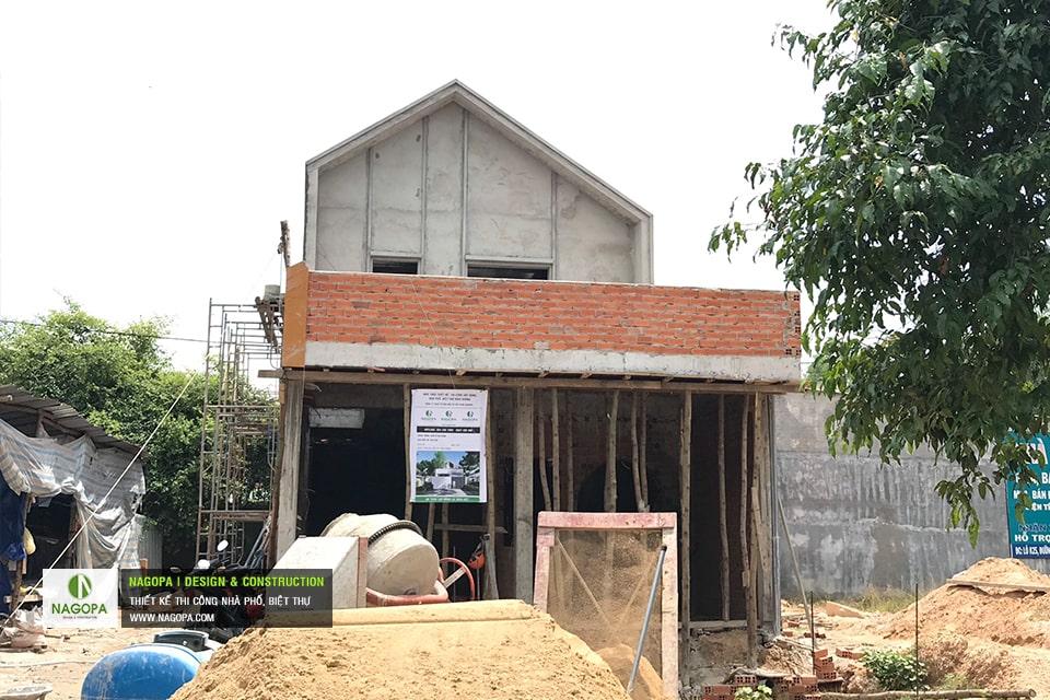 Tiến độ xây dựng nhà phố Chị Thư Thới Hòa Bến Cát 01