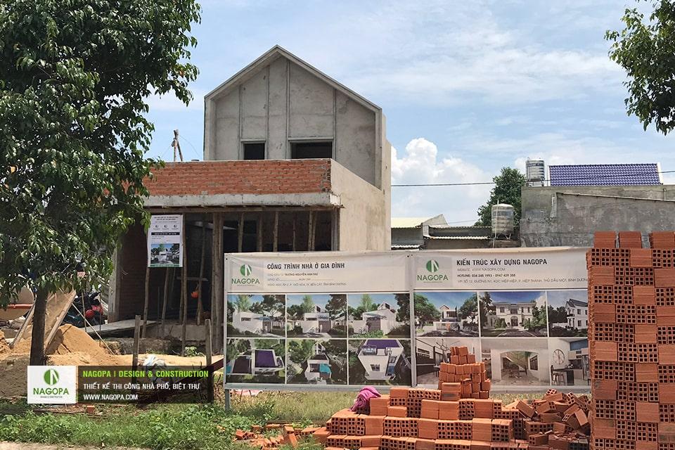 Tiến độ xây dựng nhà phố Chị Thư Thới Hòa Bến Cát 02