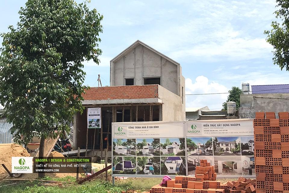 Tiến độ xây dựng nhà phố Chị Thư Thới Hòa Bến Cát 03