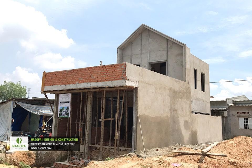 Tiến độ xây dựng nhà phố Chị Thư Thới Hòa Bến Cát 04