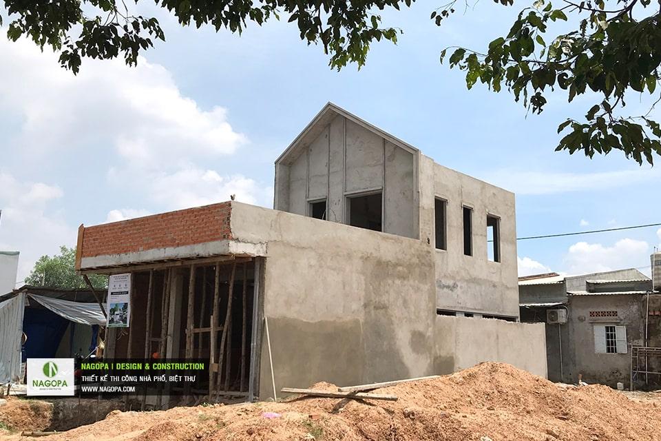 Tiến độ xây dựng nhà phố Chị Thư Thới Hòa Bến Cát 05
