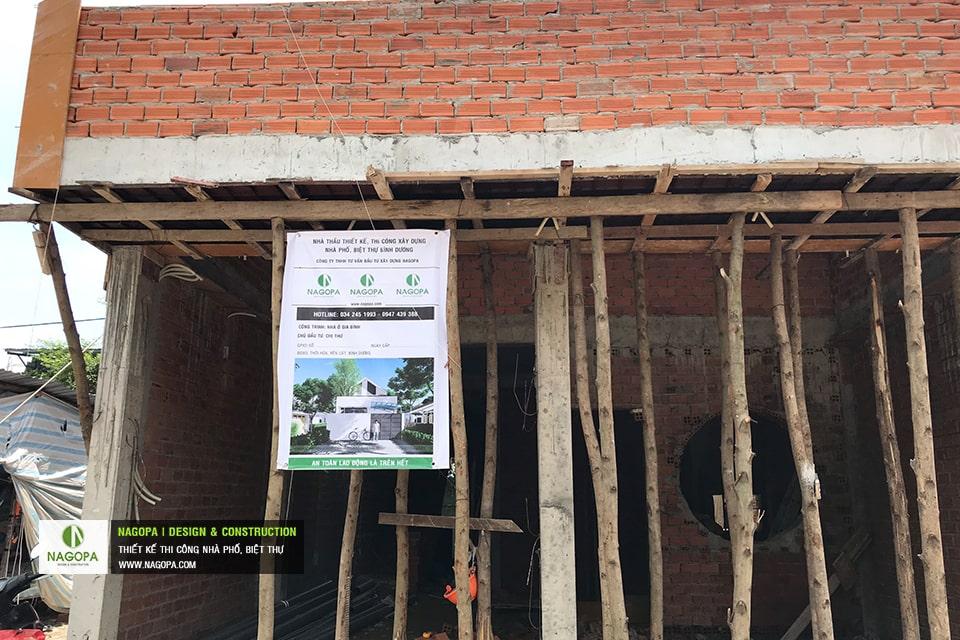 Tiến độ xây dựng nhà phố Chị Thư Thới Hòa Bến Cát 06