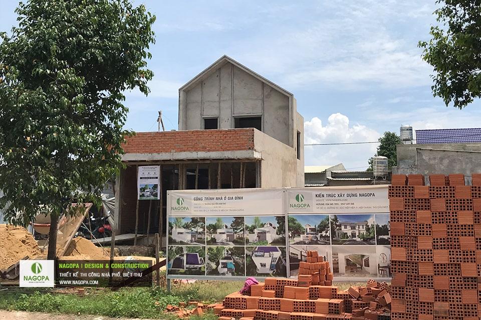 Tiến độ xây dựng nhà phố Chị Thư Thới Hòa Bến Cát