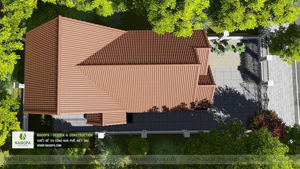 Top 10 mẫu biệt thự 1 tầng mái thái 03
