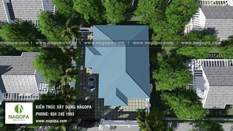 Top 10 mẫu biệt thự 1 tầng mái thái 08