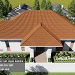 Top 10 mẫu biệt thự 1 tầng mái thái 13