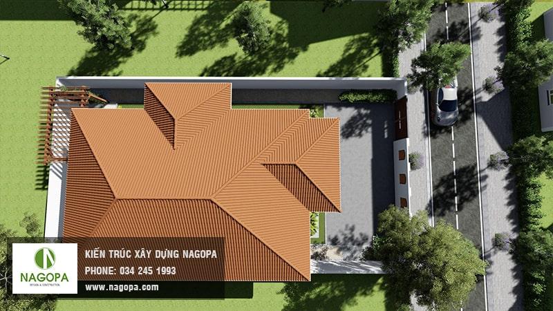 Top 10 mẫu biệt thự 1 tầng mái thái 14