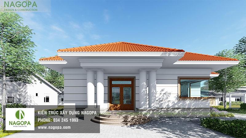 Top 10 mẫu biệt thự 1 tầng mái thái 21