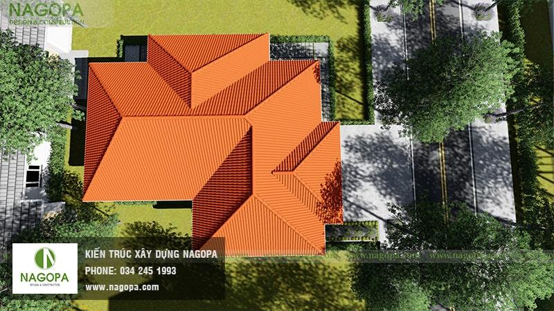 Top 10 mẫu biệt thự 1 tầng mái thái 23