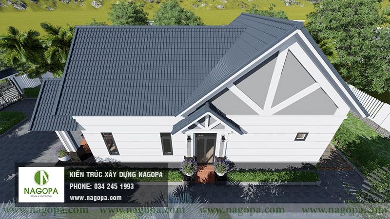 Top 10 mẫu biệt thự 1 tầng mái thái 25