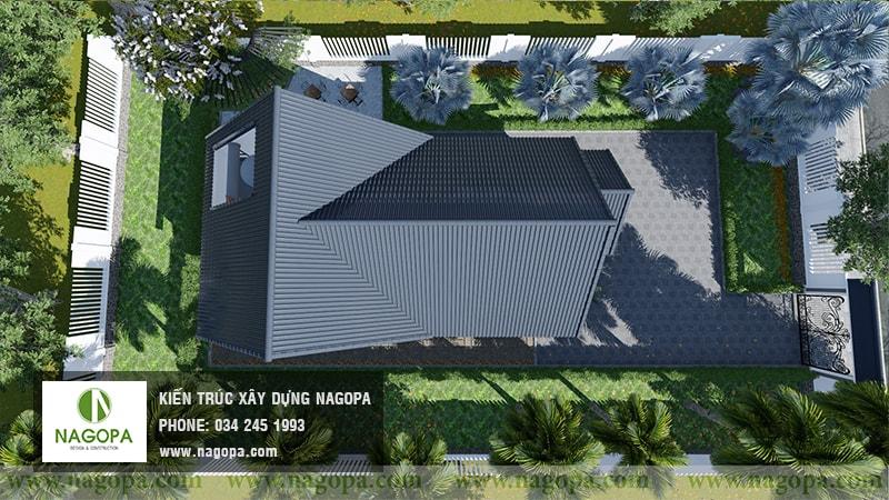 Top 10 mẫu biệt thự 1 tầng mái thái 27