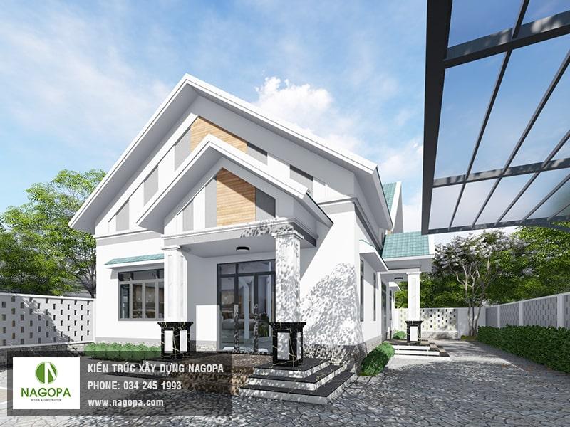 Top 10 mẫu biệt thự 1 tầng mái thái 40