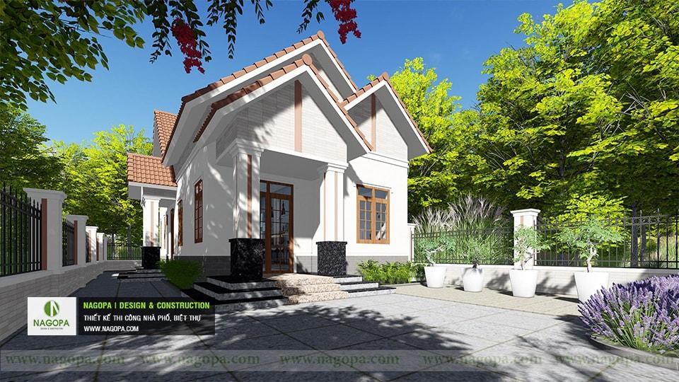 Top 10 mẫu biệt thự 1 tầng mái thái
