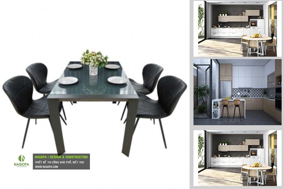 Bộ bàn ăn 4 ghế hiện đại 01