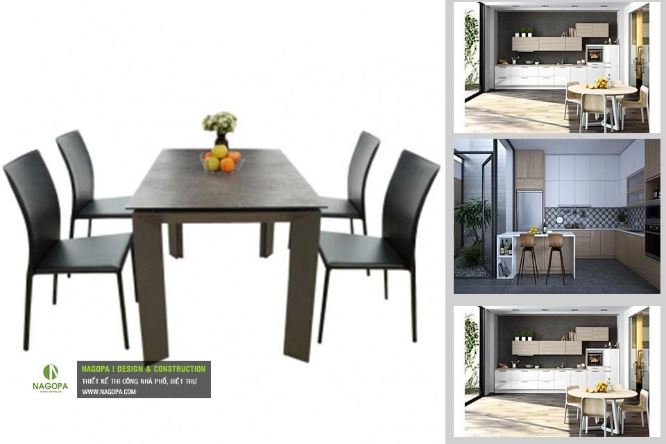 Bộ bàn ăn 4 ghế hiện đại 02