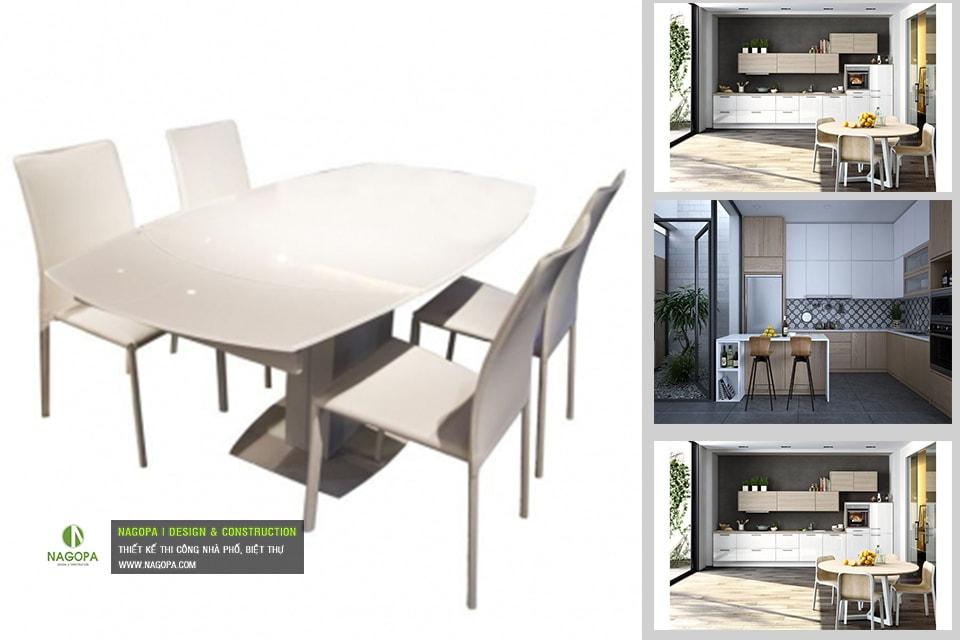 Bộ bàn ăn 4 ghế hiện đại 04
