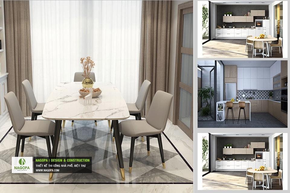 Bộ bàn ăn 4 ghế hiện đại 05