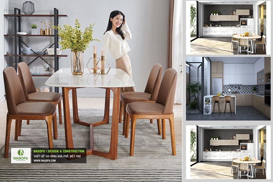 Bộ bàn ăn 4 ghế hiện đại 06