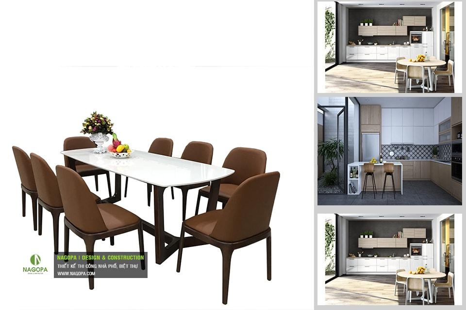Bộ bàn ăn 6 ghế hiện đại 01