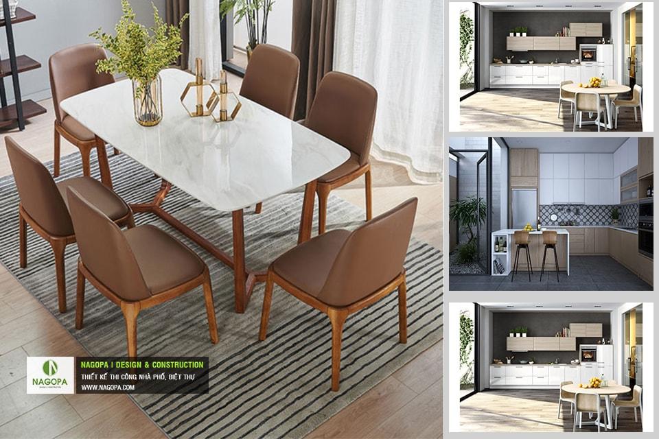 Bộ bàn ăn 6 ghế hiện đại 02