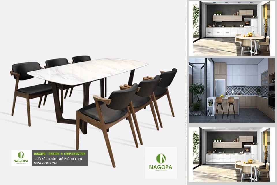 Bộ bàn ăn 6 ghế hiện đại 03