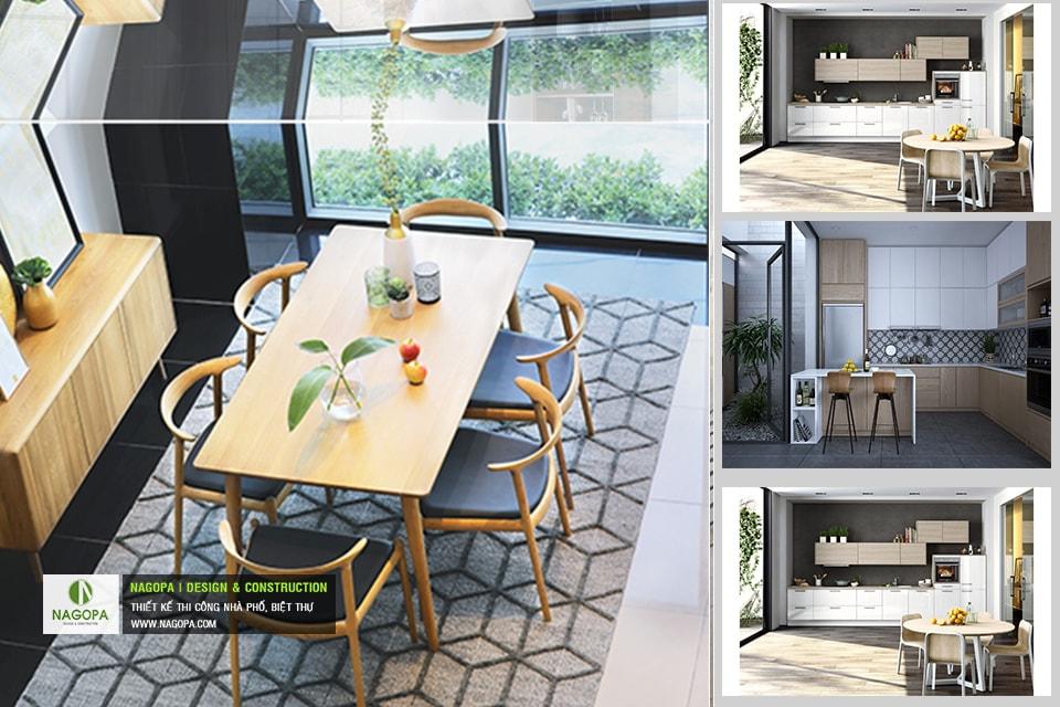 Bộ bàn ăn 6 ghế hiện đại 07