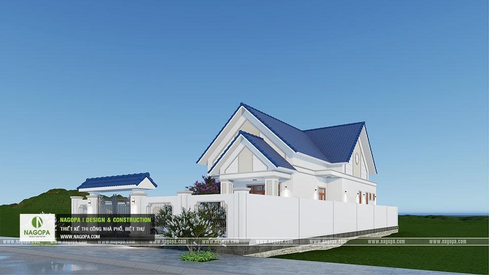 Thiết kế biệt thự 1 tầng mái thái 168m2 tại Dầu Tiếng 01