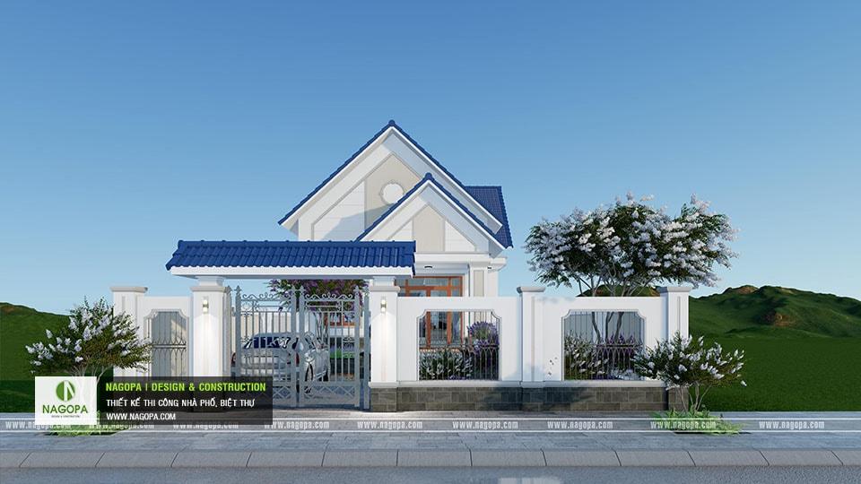 Thiết kế biệt thự 1 tầng mái thái 168m2 tại Dầu Tiếng 04