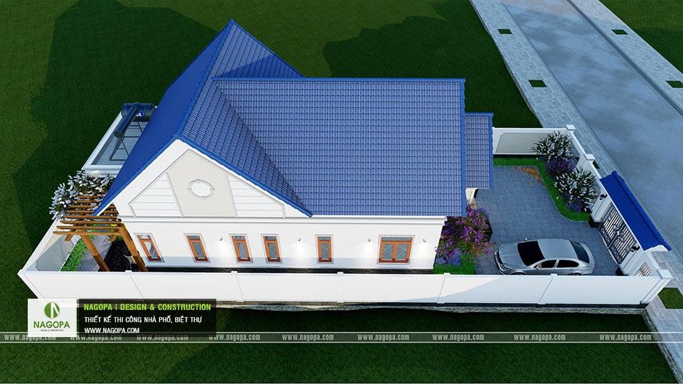 Thiết kế biệt thự 1 tầng mái thái 168m2 tại Dầu Tiếng 11