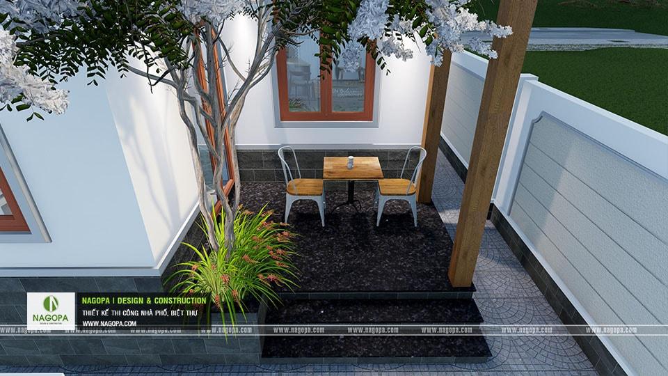 Thiết kế biệt thự 1 tầng mái thái 168m2 tại Dầu Tiếng 12