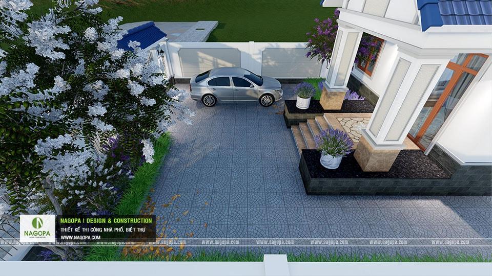 Thiết kế biệt thự 1 tầng mái thái 168m2 tại Dầu Tiếng 14