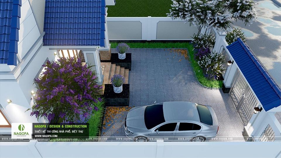 Thiết kế biệt thự 1 tầng mái thái 168m2 tại Dầu Tiếng 16