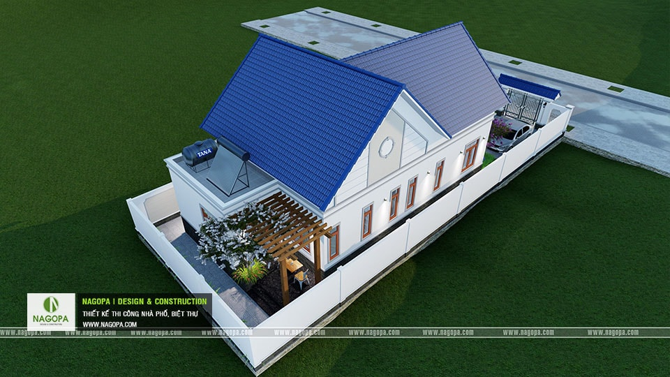 Thiết kế biệt thự 1 tầng mái thái 168m2 tại Dầu Tiếng 18