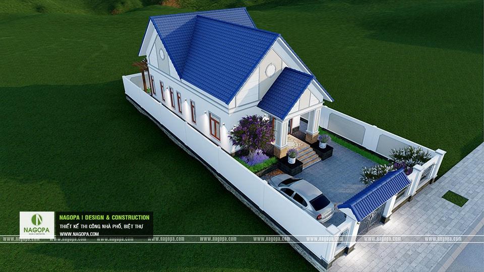 Thiết kế biệt thự 1 tầng mái thái 168m2 tại Dầu Tiếng 19