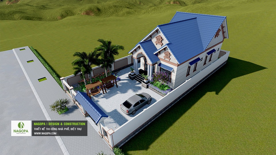 Biệt thự 1 tầng mái thái Tháng 10/2020 tại Phú Giáo 07