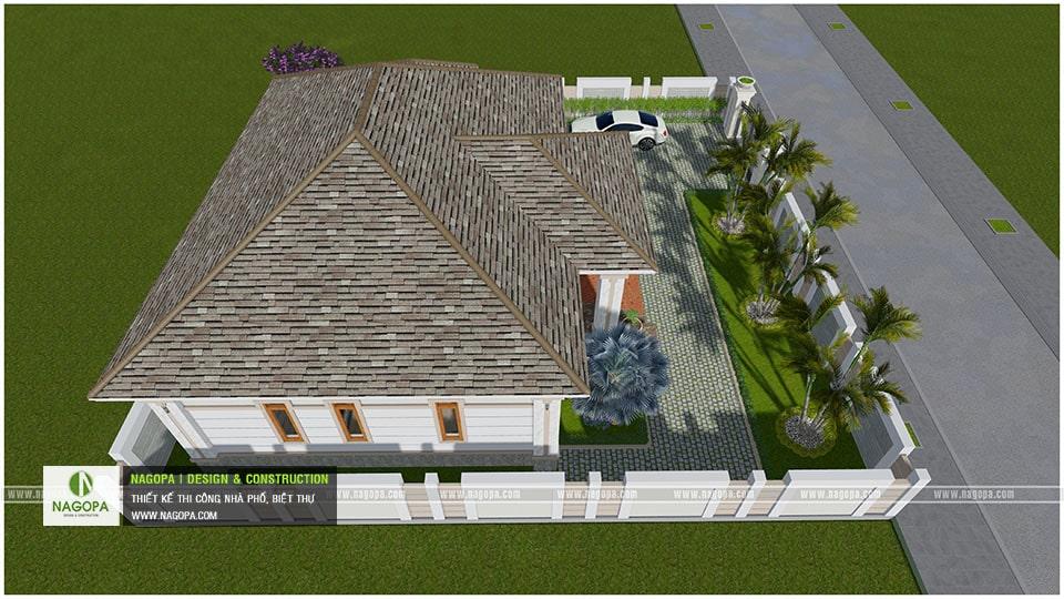 Biệt Thự Vườn 1 Tầng Lợp Mái Bitum 11