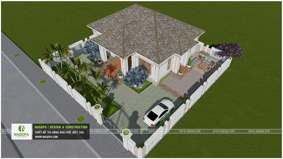 Biệt Thự Vườn 1 Tầng Lợp Mái Bitum 12