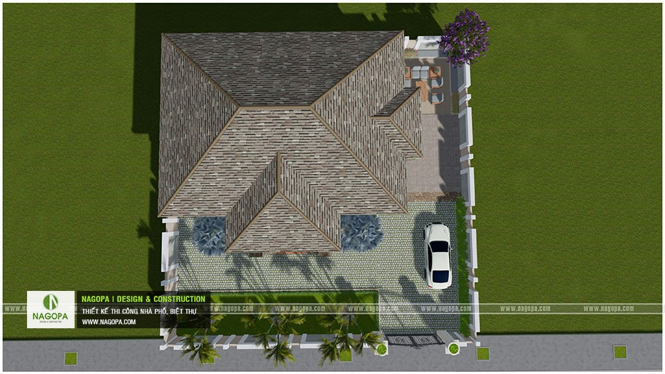 Biệt Thự Vườn 1 Tầng Lợp Mái Bitum 15