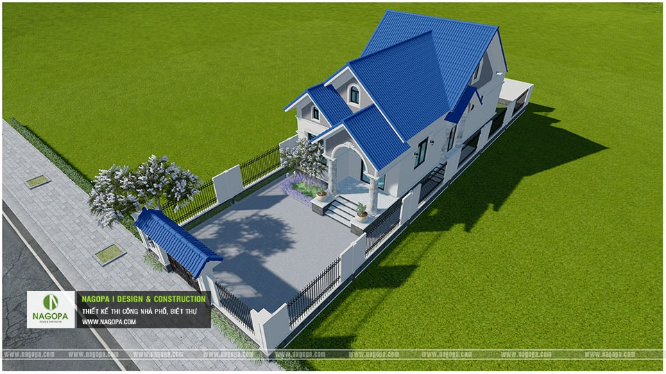 Concept Biệt thự 1 tầng mái thái 3 phòng ngủ tại Bàu Bàng 09