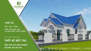 Concept Biệt thự 1 tầng mái thái 3 phòng ngủ tại Bàu Bàng 13