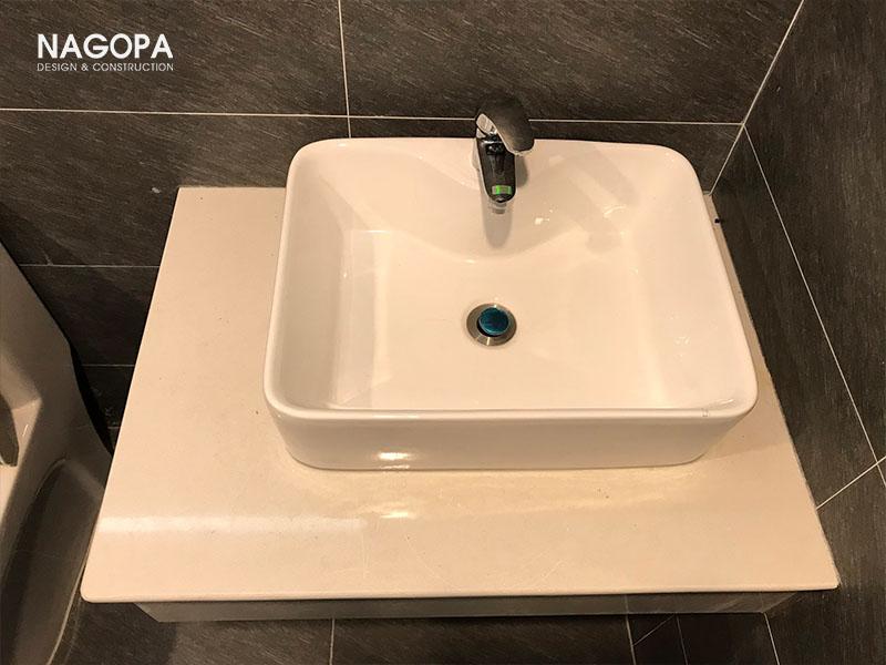 đá granite ứng dụng làm mặt bàn lavabo