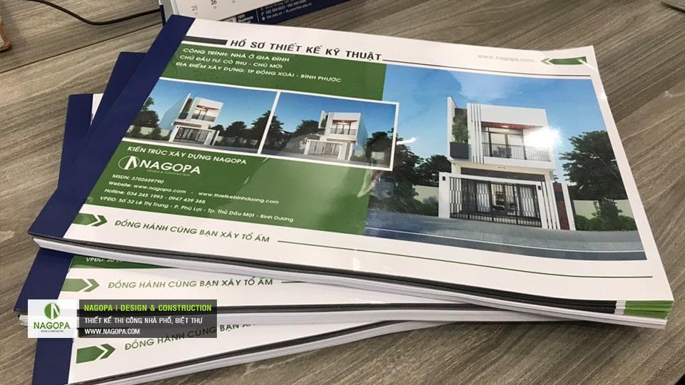hồ sơ thiết kế nhà phố