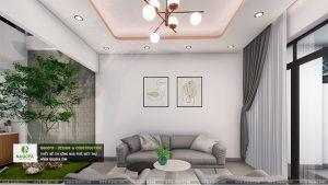 mẫu thiết kếnội thất nhà phố 2 tầng hiện đại 01