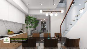 mẫu thiết kếnội thất nhà phố 2 tầng hiện đại 03